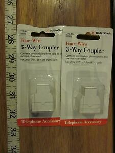 2-white-RadioShack-model-279-447-Four-Wire-3-Way-Couplers-with-free-shipping