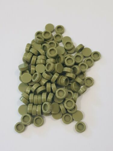 Lego olive green tile round 1x1 ,20 parts 98138