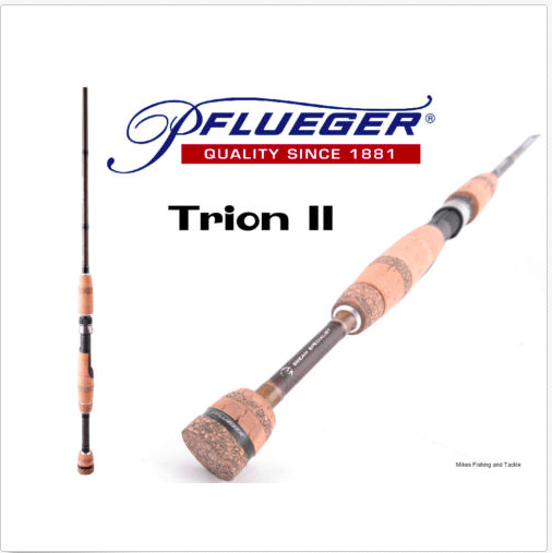 Pflueger Trion  Spin Fishing Rod 2-4kg 6'4  1 Piece + BRAND NEW