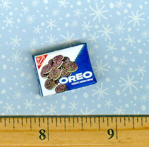 1//2 Half Inch Scale  Dollhouse Miniature Chocolate Sandwich Cookie box
