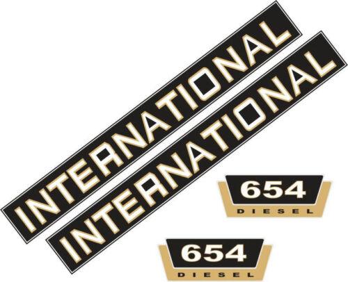 Schlepper 654 Aufklebersatz Aufkleber für IHC 654 Traktor