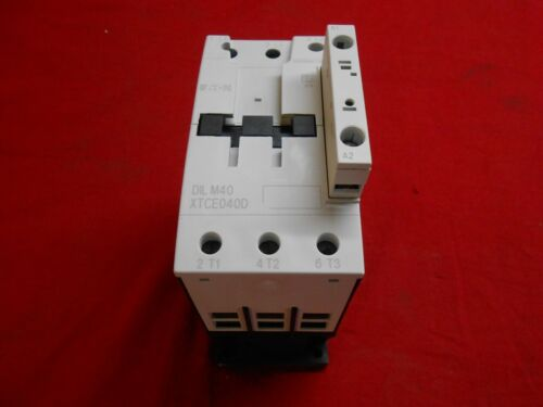 NEW IN BOX EATON XTCE040D00B CONTACTOR 3P 40AMP FRAME 240 V COIL