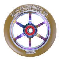 Grit 110mm 6 Spoke Acw Wheels - Twin Pack - Neochrome On Gum