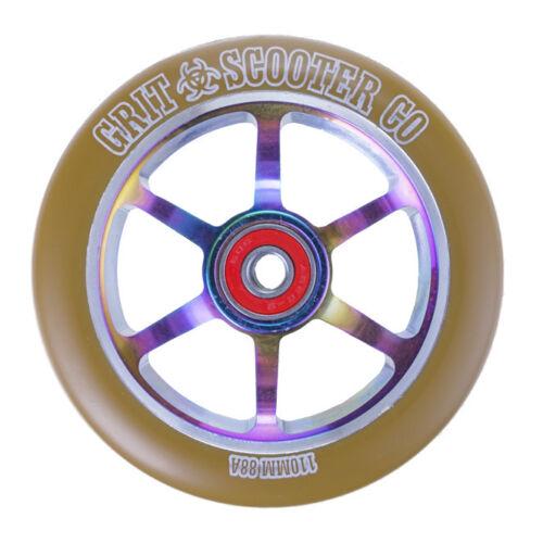 Grit 110mm 8 ha parlato Ruote ACW-Twin Pack-gomma//Neochrome