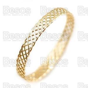 CELTIC-STYLE-WOVEN-METAL-BANGLE-GOLD-FASHION-bracelet-OPEN-WEAVE-plait-UK-GIFT