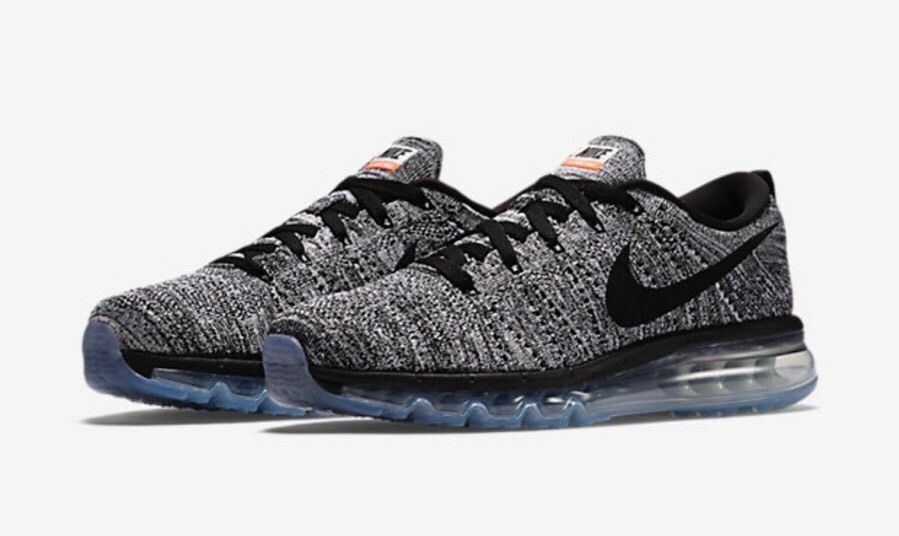 Nike Men's Flyknit Max Oreo Running shoes Sz 7.5 NEW 620469 105 Black White  225