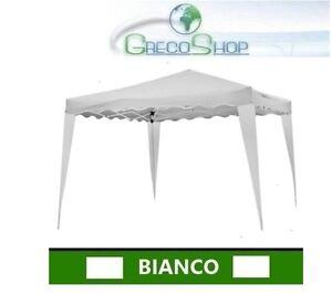 Gazebo Per Giardino Sistema Fisarmonica Impermeabile 3x3m Bianco