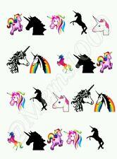 Unicorn Nail art water decals  Free Shipping Unicorns nail art!!