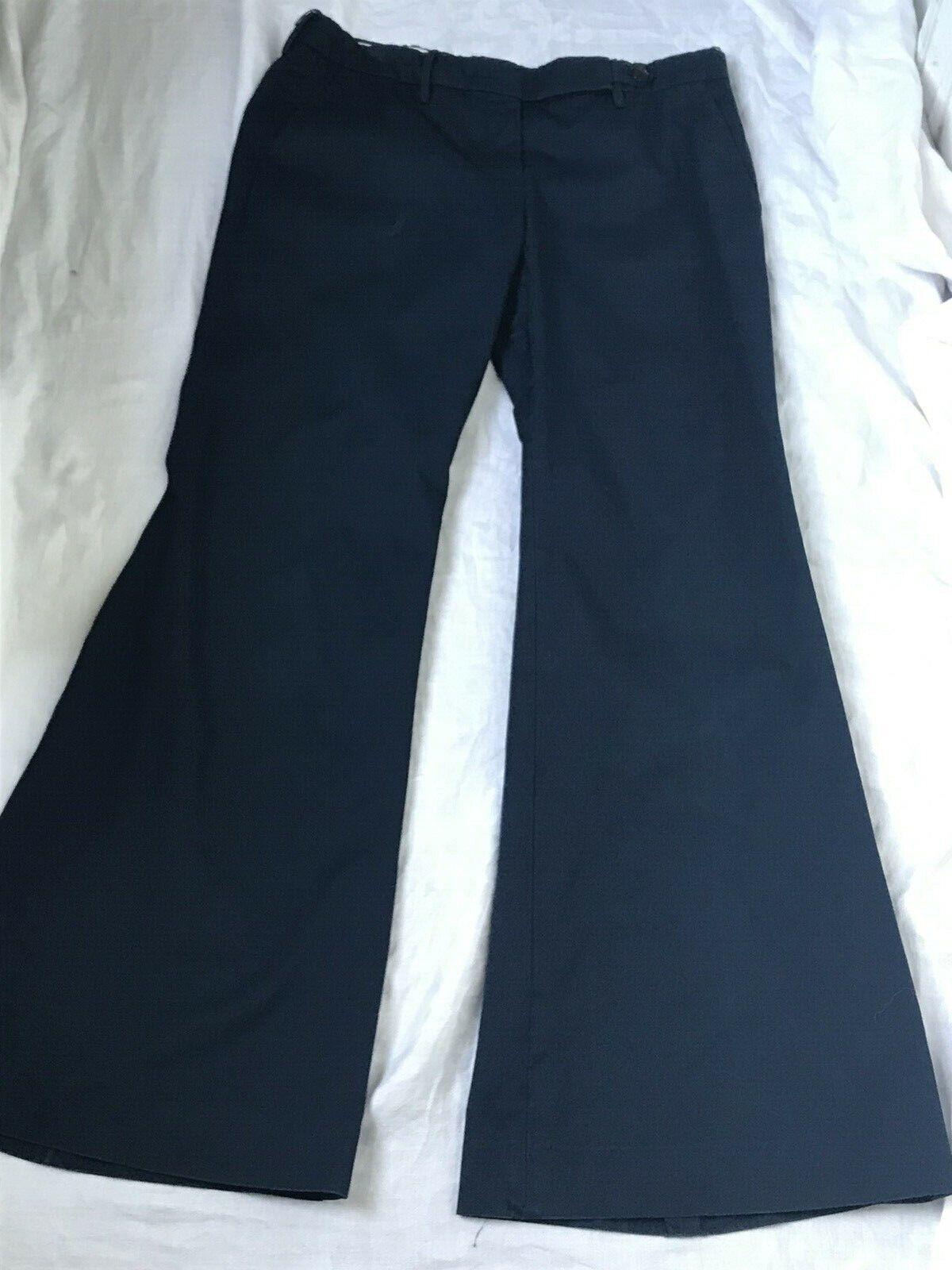 PRADA Vintage Y2K Bellbottom Flare Low Rise Pants slacks 44