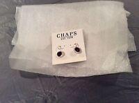Chaps Dark Red/purple Earrings