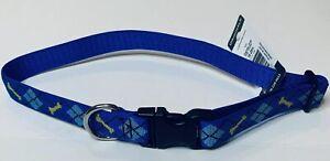 Lupine-Dog-Collar-1-034-Wide-Dapper-Dog-Adjustable-Nylon-Dog-Collar-size-16-28-034