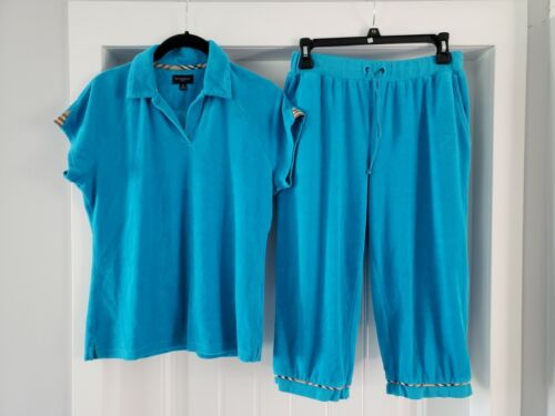 Women's Burberry Turquoise Terry Cloth Leisure Gol