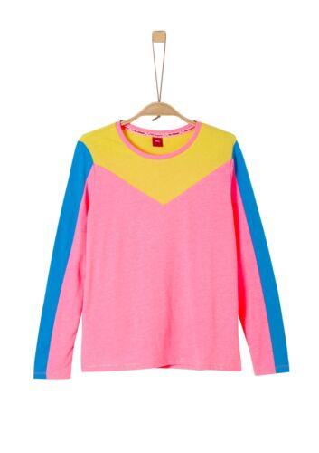 s.Oliver Junior Girls Langarmshirt mit Colourblocking Neu