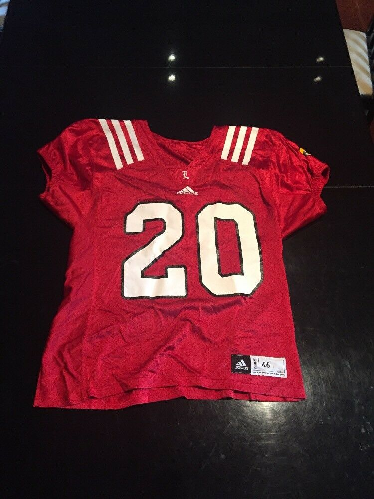 reputable site e768f add28 Game Worn Used Louisville Cardinals UL Football Jersey Adidas Adidas Adidas  Size 46 d3f00c