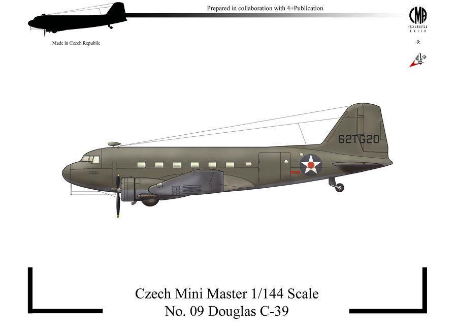 Tchèque Mini Master 1 144 Douglas C-39
