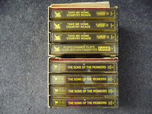 Readers Digest Cassette Tapes Lot Of 8 Mixed Collection Country Holders Booklets