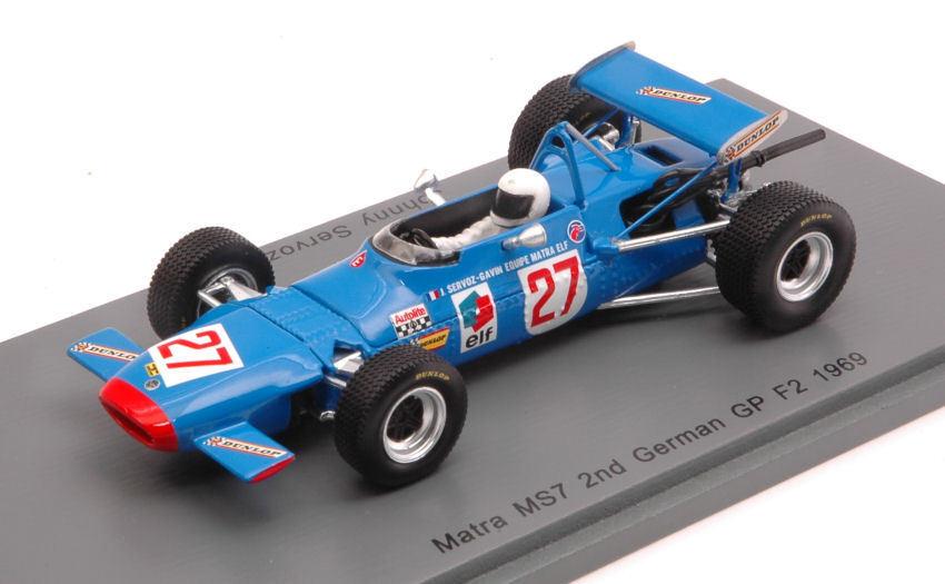 Matra MS7 J. J. J. Servoz   Gavin 1969  27 F2 German GP 1 43 Model S4291 SPARK MODEL 4c0116