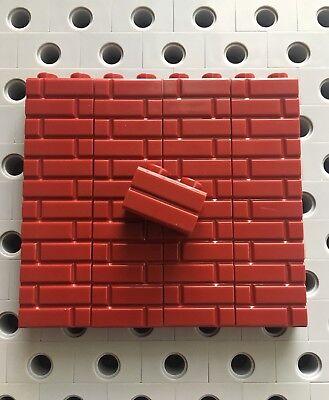 Lego Lot of 100 New Reddish Brown Bricks 1 x 2 Building Blocks