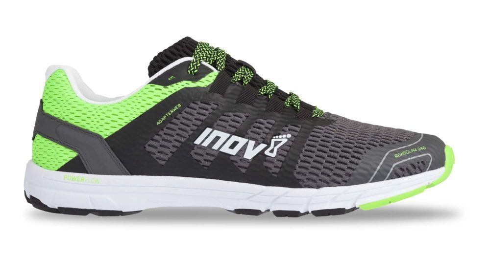 Inov8 ROADCLAW 240 Mens grau Grün Running Road Sports schuhe