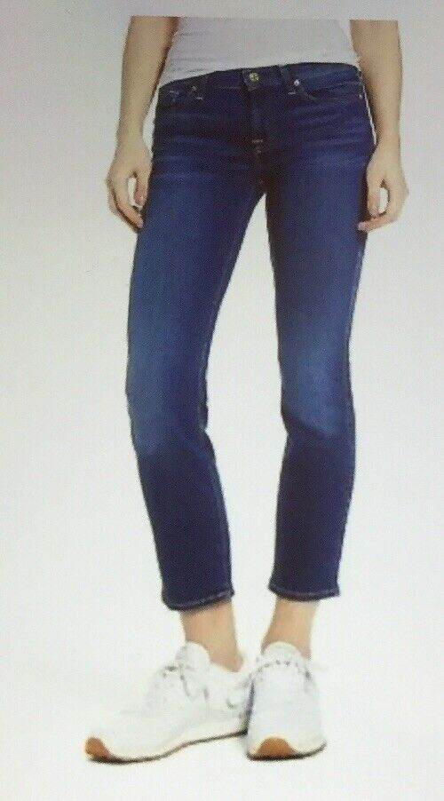 """NWT 7 FOR ALL MANKIND ROXANNE ANKLE JEAN COLOR """"BAMN"""" SIZE 30"""