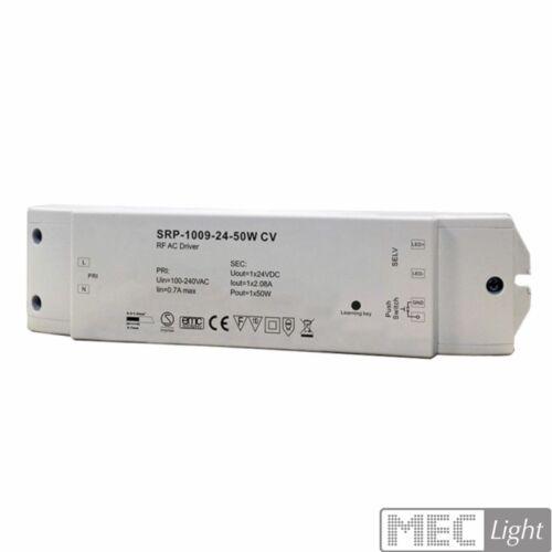 avec DEL transformateur srp-1009-50w-cv Funk Variateur//contrôleur RF DEL-Récepteur 12 V