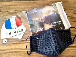 LE MASK FRANÇAIS Taille L Masque Stratus avec filtre - respirant anti-buée bleu