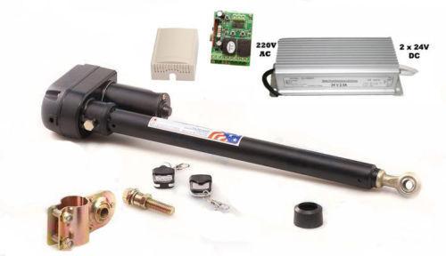 Drehtorantrieb Satz 24V für einiflügeliges Tor bis 200 Kg 310mm Hublänge