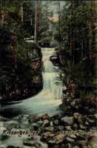 1914-Stempel-HIRSCHBERG-Schlesien-auf-AK-Riesengebirge-Hain-Wasserfall-Waterfall