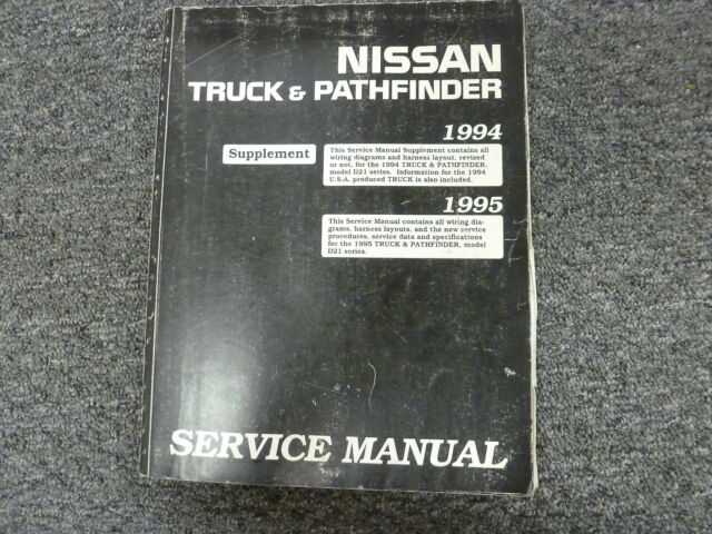1994 1995 Nissan Pickup Truck Shop Service Electrical