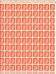 Stamp Germany 8 PF Adolf Hitler Sheet 1941 WWII 3rd Reich German MNH Faults