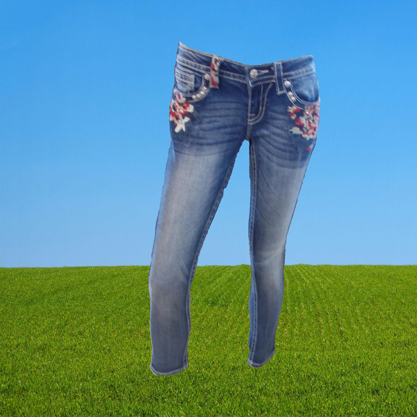 Miss Me Jeans Damen Skinny JP7258S3 Miss Me Modejeans Western