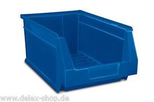 Sichtlagerkaesten-Stapelboxen-Lagersichtkaesten-Lagerbox-236x160x130mm-Farbe-Blau