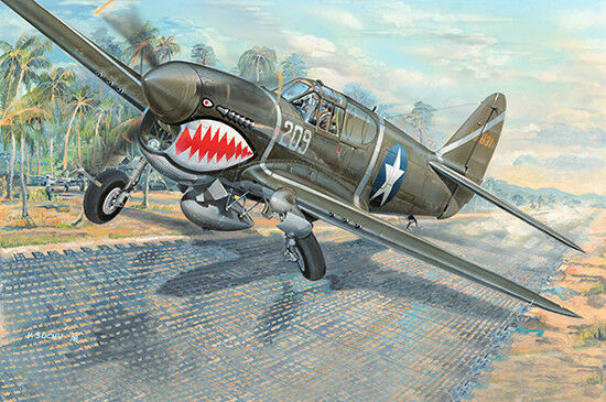 P-40f War Hawk Fighter 1 32 Plastic Model Kit TRUMPETER
