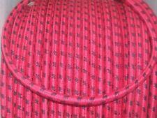 Cable Ignición 7MM Ht Núcleo De Cobre Trenzada De Algodón Negro sobre Rojo 1 metros