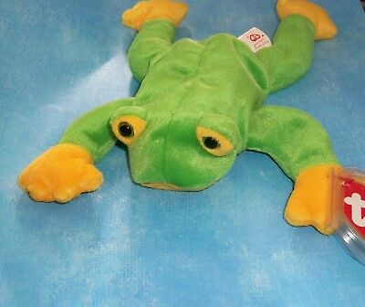RETIRED Mint with Mint Tags SMOOCHY the Frog TY Beanie Baby