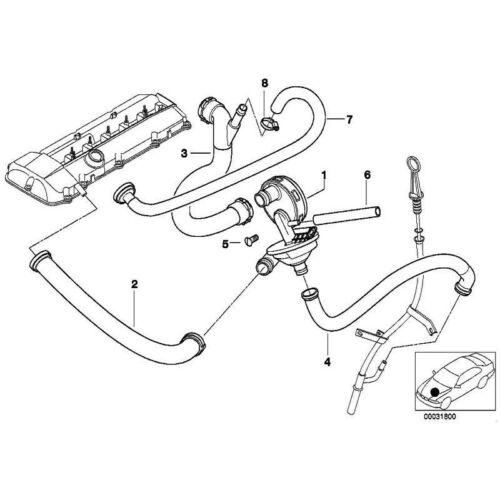 Rücklaufleitung 3er 5er 7er X3 X5 Z3 Z4 Original BMW 11617504536