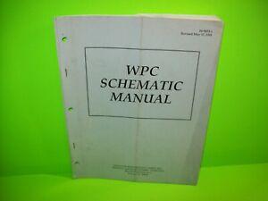 WPC-Williams-Pinball-Schematic-Manual-Original-Arcade-Game-Service-Info-1993