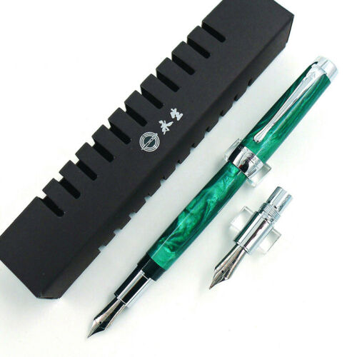 New Wing Sung Fountain Pen Wooden Resin Come with EF and F Nib Box Office Pen