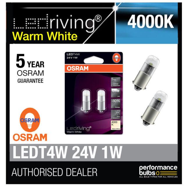 d159dbdbcd4 OSRAM LED Warm White 233 24v T4w 249 Number Plate Festoon Interior ...