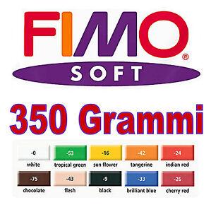 Maxi Pâte Grand FIMO Souple à Modeler 10 Couleurs 350gr. Dessiné en Accéléré.