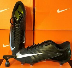 BRAND NEW Nike Vapor Pro Low D Black Silver Football Removable Cleats SOCCER