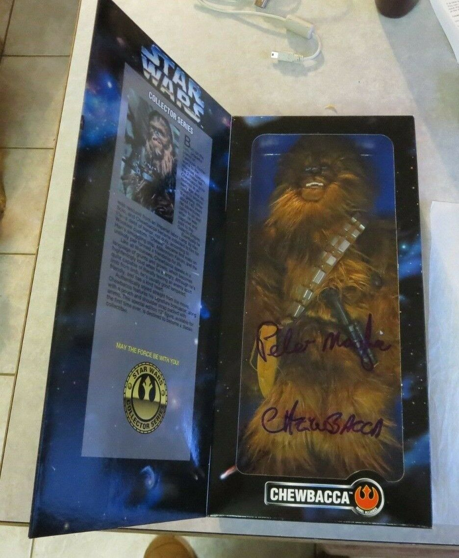 Collector Series 12' Chewbacca Dark bluee Recalled Variant Signed By Peter Mayhew