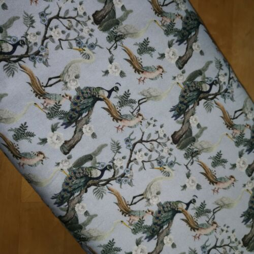 147cm Wide Fabric By The metre Little Johnny Peacock Birds 100/% Cotton 150cm