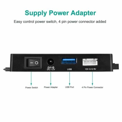 """USB 3.0 to SATA IDE Adapter for 2.5/"""" 3.5/"""" SDD HDD Hard Drives with 12V 2A Power"""