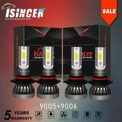 Mini 9005 9006 Combo LED Headlight Kit 5600W Fog Light Bulbs High Low Beam 6000K