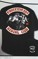 The Three Stooges Motorcycle Club T Shirt Knuckleheads, Black Sizes M- 3xl Biker