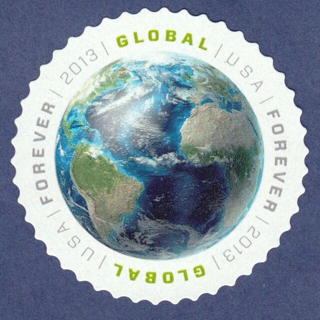 Forever Stamp 2013 Global Usa Air Mail 1st In Series International Postage Earth