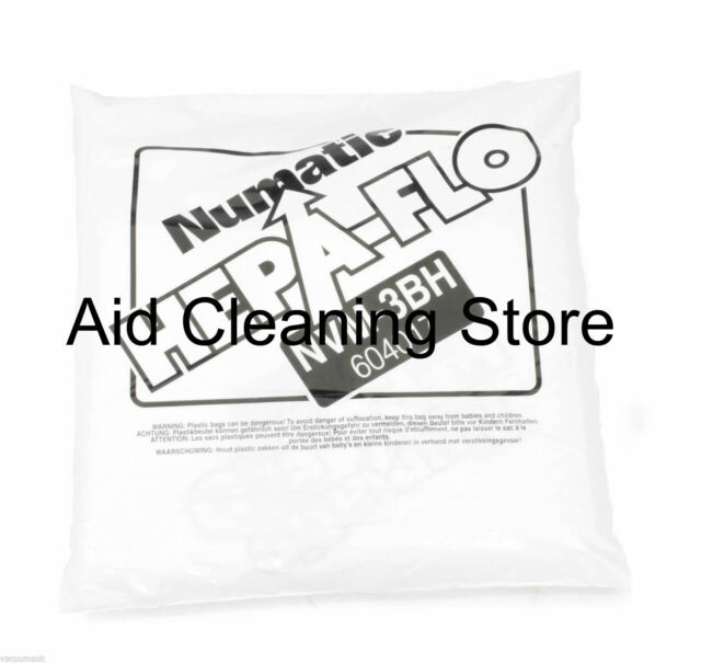 604017 Numatic NVM 3BH Bags Pack of 10