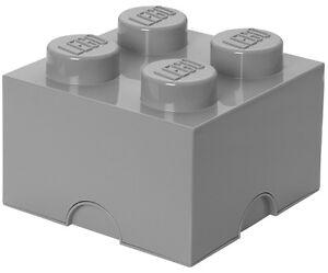 LEGO storage Brick xl Gris pierre 2x2 de rangement boîte box boîte 4 Knobs Grey  </span>