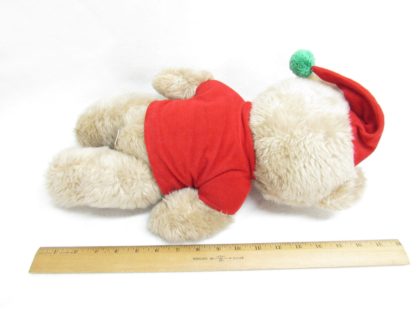 VTG BEAR MON PETIT CHOU LTD CHRISTMAS TEDDY BEAR VTG JOINTED PLUSH 15a138